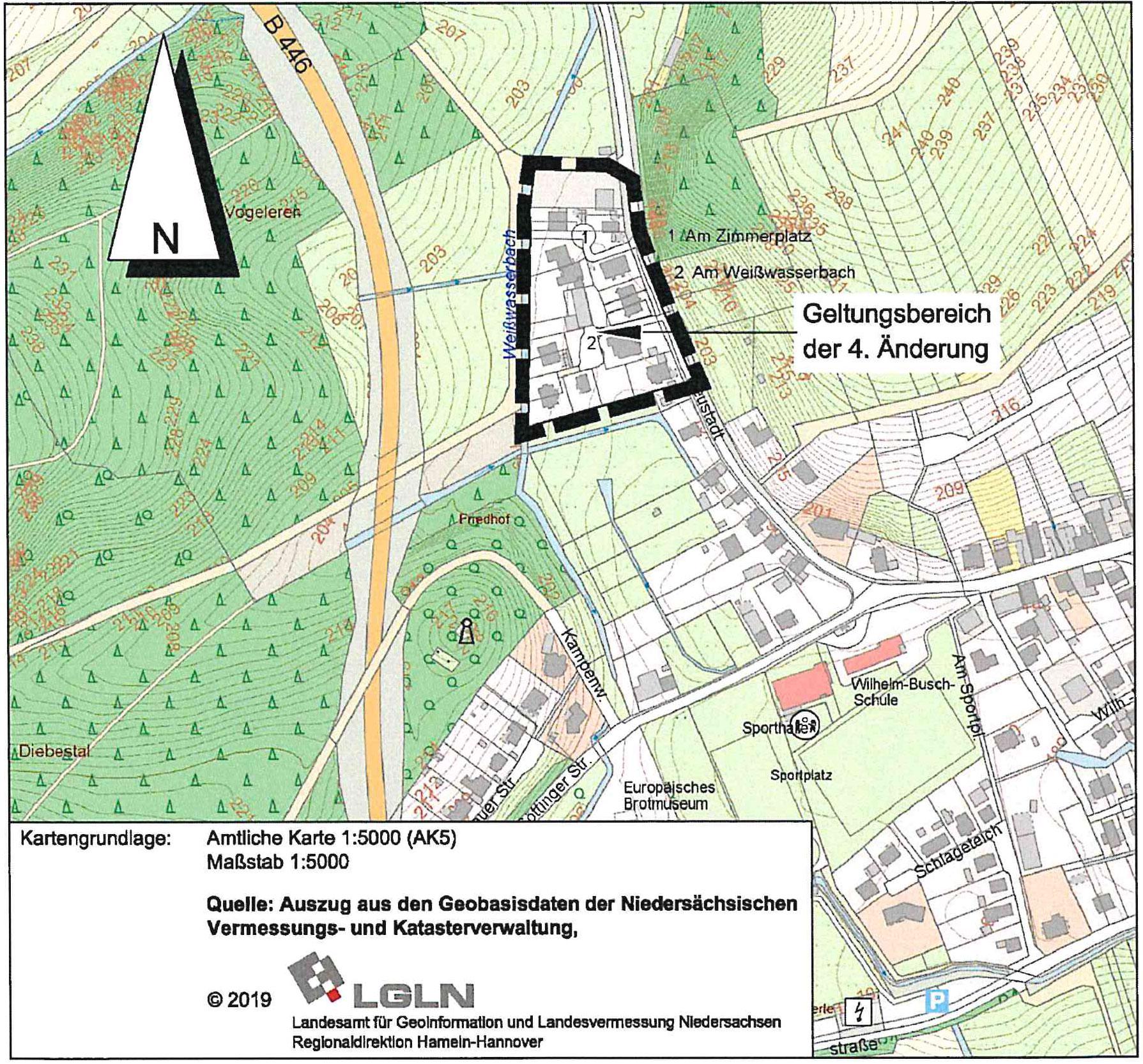 Amtliche Karte LGN